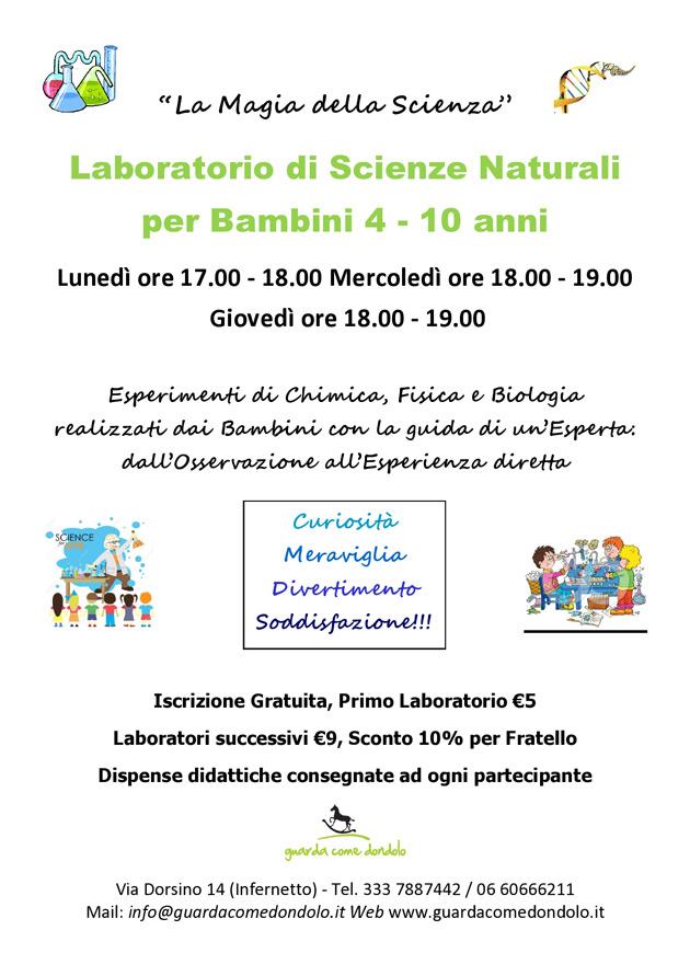 """Laboratori per Bambini """"La Magia della Scienza"""""""